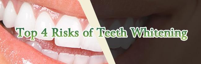 risks of teeth whitening